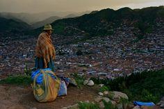 Lady on a hill, Peru