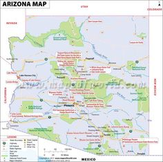 Arizona Map for free download and use. The map of Arizona, known as The Grand Canyon State, shows cities, lakes, rivers, rail lines, attractions, roads, airports, national parks, etc: