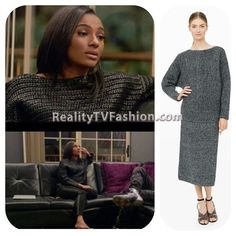 #TaraWallace's Gray Ribbed Sweater #LHHNY