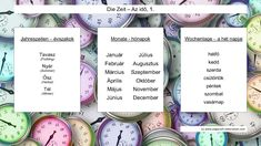 Grundlegendes Vokabular, wenn man über die Zeit im Ungarischen redet. - Monate im Ungarischen - Wochentage auf Ungarisch - Jahreszeiten auf Ungarisch Languages, Personalized Items, Learn Languages, Seasons