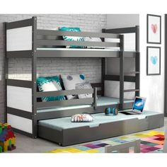 Check out these dynamite concepts for a triple bunk bed room