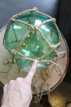 DIY japanese glass fishing float light