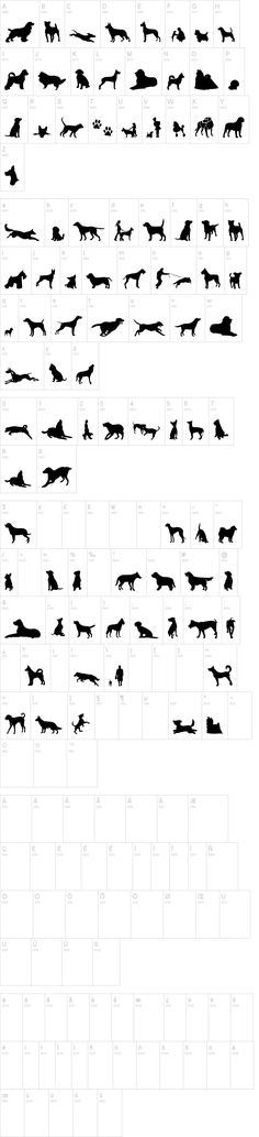 Can Dog TFB dingbats that are dog silhouettes