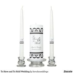 To Have and To Hold Wedding Unity Candle Set Wedding Unity Candles, Taper Candles, Candle Reading, Wedding Ceremony, Wedding Day, Personalized Candles, Candle Set, Hold On, Pi Day Wedding