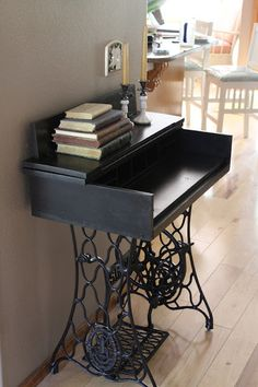 make a desk on a sewing machine base - do something with my 3 bases, **photo only (May 20, 2012)
