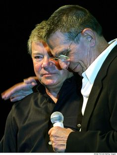 William Shatner and Leonard Nimoy. Best buds for life!
