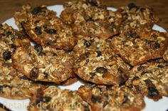 Galletas de avena con semillas de lino y chia