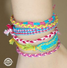 Make a Friendship Bracelet Loom from a piece of cardboard!