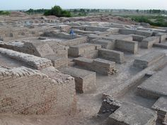 Mohenjo-daro: This town was built in 2600 BCE in present-day Pakistan. It is one of the first examples of city-planning in human history. It has roads and even a draining system similar to a sewer.