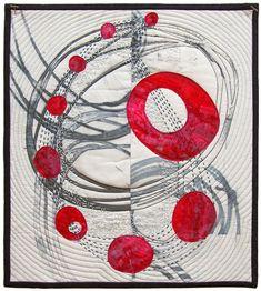 Contortion, 13.5 x 12 inches, fiber art — Charlotte Bird