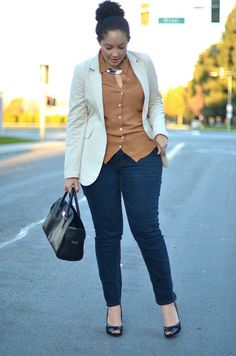 Girl With Curves: Instant Chic Business Casual Outfits, Trendy Outfits, Cute Outfits, Fashion Outfits, Womens Fashion, Curvy Girl Fashion, Plus Size Fashion, Fat Fashion, Fashion Fall