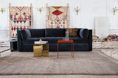 hay hackney sofa blue velour - Google Search