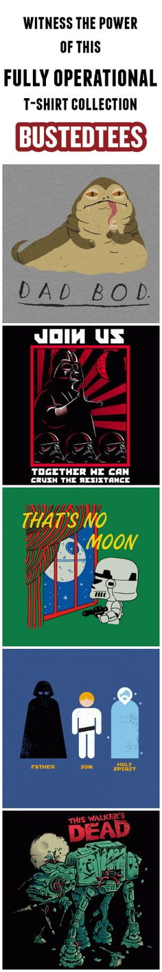 Check out our stellar collection of Star Wars t-shirts at www.bustedtees.com!