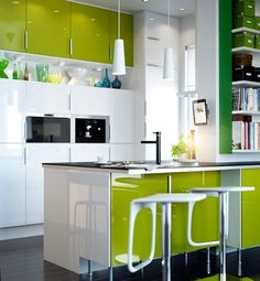 Lime looks sublime in this kitchen @GloMSN http://glo.msn.com/living/kitchens-with-color--remodelista-7476.gallery