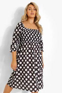 Dresses   Womens Dresses Online   boohoo UK Long Sleeve Smock Dress, Plus Size Shirt Dress, Plus Size Black Dresses, Belted Shirt Dress, Midi Skater Dress, Black Midi Dress, Skater Dresses, Maxis, Plus Size Dresses