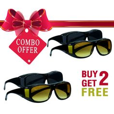 Buy Darvi HD Sunglasses Combo From Telshop - 24*7 Home Shopping Channel In India.