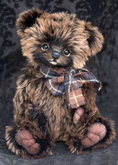 Three O'Clock Bears: Here's Raffles.. a gorgeous fluffy boy!
