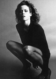 Sigourney Weaver by Helmut Newton.