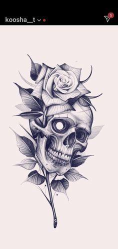 Lace Skull Tattoo, Rose Tattoo Stencil, Skull Tattoo Flowers, Skull Rose Tattoos, Lion Head Tattoos, Dope Tattoos, Tattos, Lion Tattoo Design, Floral Tattoo Design