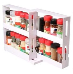 With this Rack Selves Storage Cabinet you will save space and organise spice bottles with the handy swivel spice rack. Kitchen Spice Jars Bottles Storage Rack. (bottles not included). Item color displayed in photos may be showing slightly different on your monitor, as monitors are not calibrated same! | eBay!