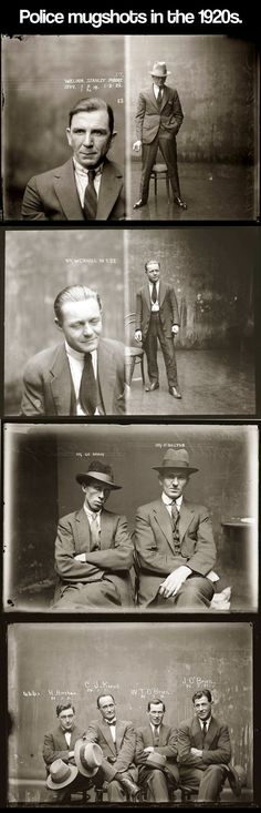 Can We Just Take a Moment to Appreciate the Mugshots from the 20s? Be sure to click the link for more! :)