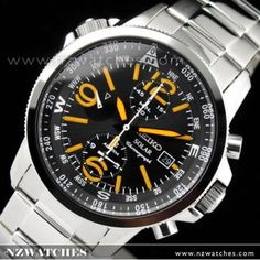 BUY Seiko Solar Power Alarm Chronograph Mens Sport Watch SSC077P1, SSC077 - Buy Watches Online | SEIKO NZ Watches