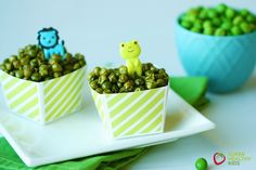 Crunchy Roasted Green Peas