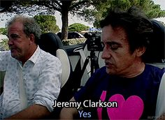 Jeremy Clarkson and Richard Hammond: these two really look after each other. <--- pardon?!?!?