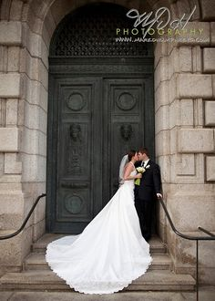 Favorite Pic from our Wedding. Outside the Old Courthouse in downtown Cleveland. <3