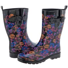 Capelli New York Ladies Pretty Floral Printed Rain Boot -- Visit the image link more details.