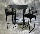 Buy Geometric Dining Set in Black Finish from allseatingauction E-bay store. AllSeatingAuction on E-bay store has special discount for our customers:  http://stores.ebay.com/AllSeatingAuction/Commercial-tabletops-and-bases-/_i.html?_fsub=154376012