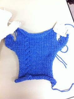 Machine Knitting Fun: Fingerless Gloves by Karalyn