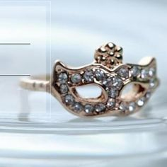 Rhinestone Mask Ring from #YesStyle <3 Cuteberry YesStyle.co.uk