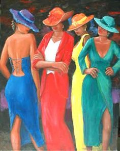 Reminds me of my sisters & I...I'd take the yellow dress :)