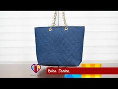Bolsa de tecido/jeans Janina - Maria Adna Ateliê - Cursos e aulas de bolsas de tecido e couro - YouTube