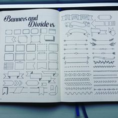 Some doodling of banners and dividers. Enjoy! #bulletjournaljunkie…