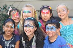 Face painted masks!