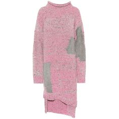 3.1 Phillip Lim Wool-Blend Sweater Dress ($690) ❤ liked on Polyvore featuring dresses, pink, 3.1 phillip lim, 3.1 phillip lim dress, pink sweater dress, pink dress and sweater dress