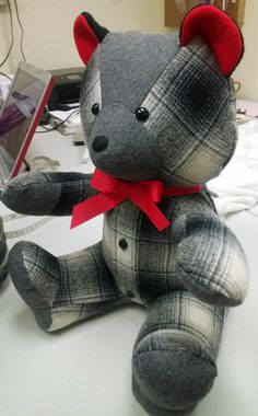 Custom Memory Bears made from old shirts by LottiDottiBoutique on Etsy