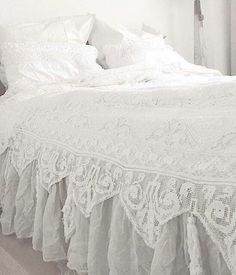 Camera da letto shabby shic - Copriletto shabby chic | Shabby