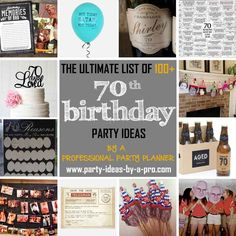 100+ 70th Birthday Party Ideas—by a Professional Party Planner