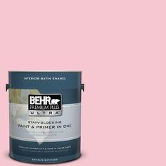 BEHR Premium Plus Ultra 1-gal. #120B-4 Old Fashioned Pink Satin Enamel Interior Paint