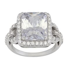Gioelli Sterling Silver Cubic Zirconia Ring