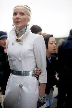 Daphne Guinness: London Fashion Week, February 2011