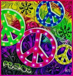 __[Peace sign Art by Kathy Nail] Hippie Peace, Hippie Love, Hippie Art, Hippie Style, Hippie Things, Hippie Chick, Peace Love Happiness, Make Peace, Peace And Love