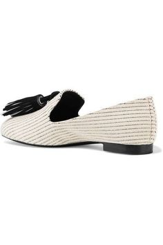 Proenza Schouler - Tasseled Woven Canvas Loafers - Off-white - IT41