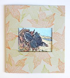 Frame cards are a great way to showcase something special – words of inspiration, a found object or a favorite photograph. To begin, select a piece of card stock in a color and texture that y… Special Words, Autumn Leaves, Blessings, Card Stock, Vintage World Maps, Stamps, Blessed, Fine Art, Texture