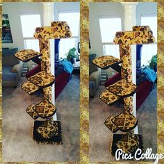 NEW @KoolKittyToys 7 ft Designer Custom Cat Tree with oversized platforms for an AMAZING return customer! Please call or email us if you would like a handmade custom Kool Kitty Toys product made for your furbaby!  Every product is made in the USA by Disabled Veterans!  315-209-5444 or koolkittytoys@koolpets.com  www.koolkittytoys.com  #dog #cat #DC #MD #VA #cats #kitties #kittens #pets #animal #catsofinstagram #catsoftwitter #kitty #koolkittytoys #teamcatmojo #branding #cattree #cattower