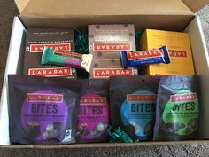 Lärabar products sent with personalized handwritten note! How thoughtful!