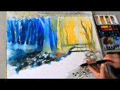 ECKARD FUNCK - Aquarell malen ohne Vorzeichnen (1) - Watercolor painting without sketching